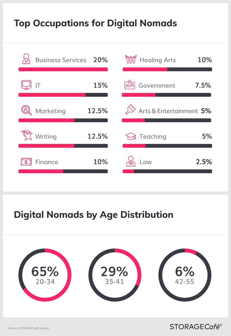 Digital Nomads by Occupation & Age