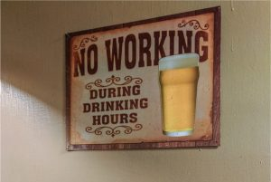 Sign on a kitchen wall