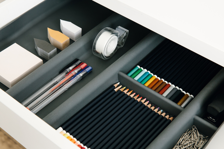 organized home schooling drawer