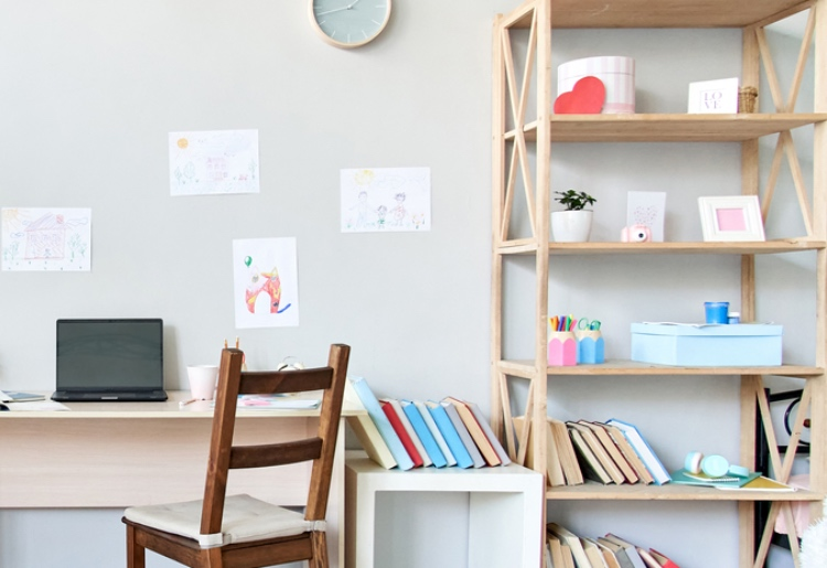 wall storage for home school materials