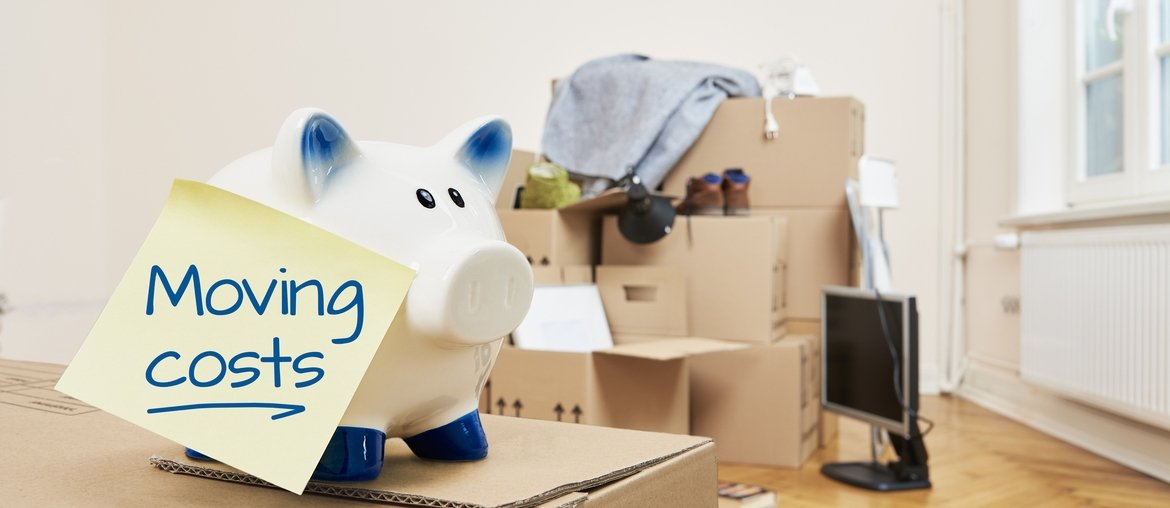 Moving Boxes With Piggybank